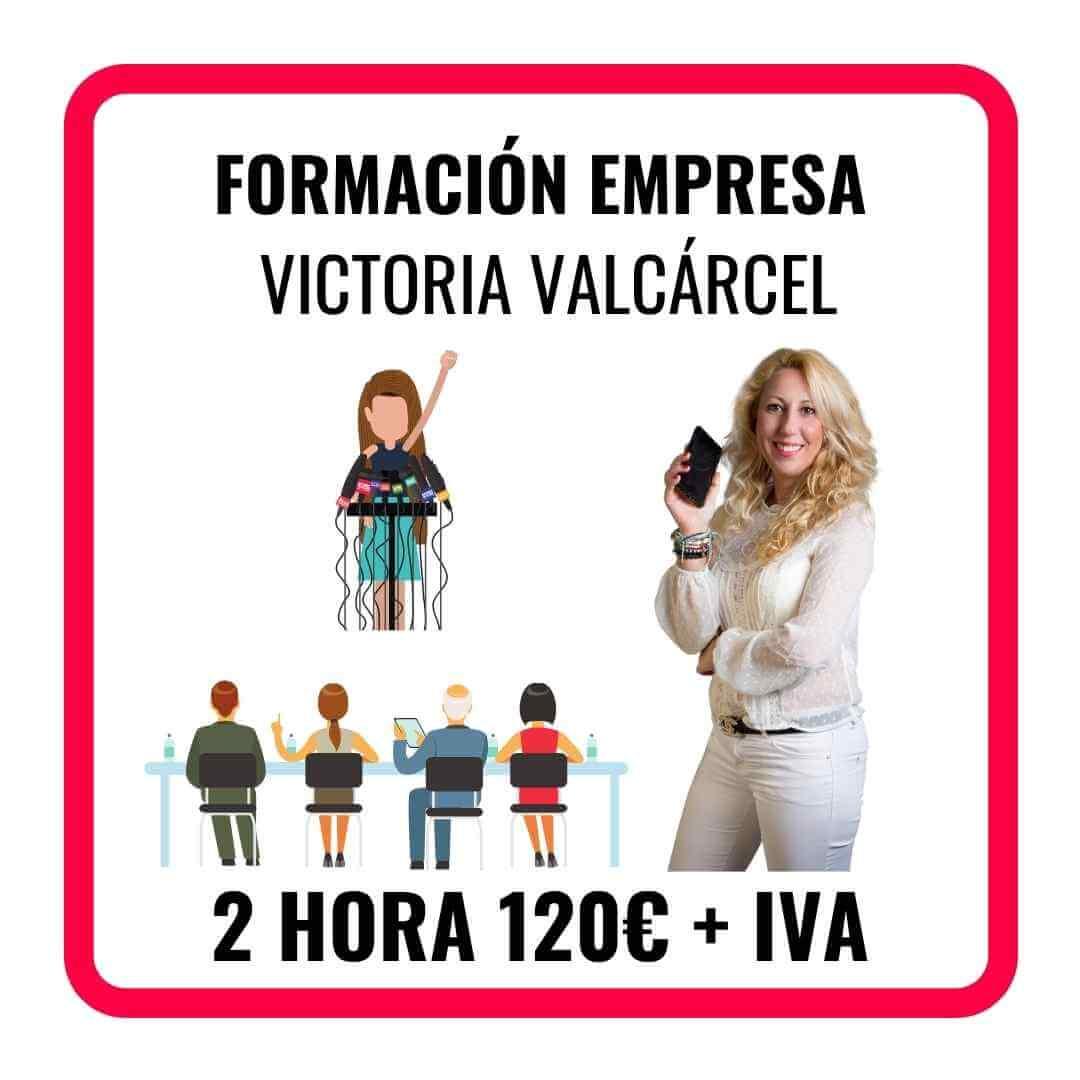 FORMACIÓN PARA EMPRESA CON VICTORIA VALCARCEL, SOBRE MARKETING, TÉCNICAS DE VENTAS, REDES SOCIALES O MOTIVACIÓN PARA EMPRENDER.
